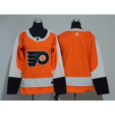 Women Adidas Philadelphia Flyers Blank Orange Home Authentic Stitched NHL Jersey
