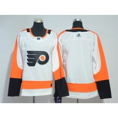 Women Adidas Philadelphia Flyers Blank White Road Authentic Stitched NHL Jersey