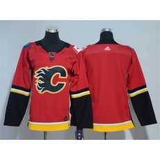 Youth Adidas Calgary Flames Blank Red Home Authentic Stitched NHL Jersey