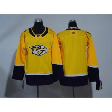 Youth Adidas Nashville Predators Blank Yellow Home Authentic Stitched NHL Jersey
