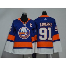 Youth Adidas New York Islanders 91 John Tavares Royal Blue Home Authentic Stitched NHL Jersey