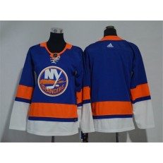 Youth Adidas New York Islanders Blank Royal Blue Home Authentic Stitched NHL Jersey