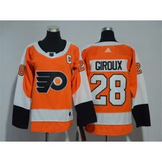 Youth Adidas Philadelphia Flyers 28 Claude Giroux Orange Home Authentic Stitched NHL Jersey