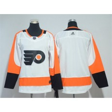 Youth Adidas Philadelphia Flyers Blank White Road Authentic Stitched NHL Jersey