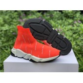 BALENCIAGA SPEED TRAINER ORANGE LOGO