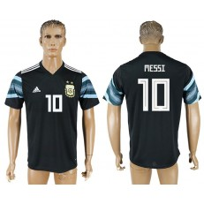 Argentina 10 MESSI Away 2018 FIFA World Cup Thailand Soccer Jersey