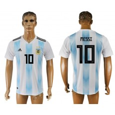 Argentina 10 MESSI Home 2018 FIFA World Cup Thailand Soccer Jersey