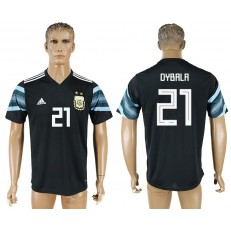 Argentina 21 DYBALA Away 2018 FIFA World Cup Thailand Soccer Jersey