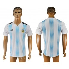 Argentina Home 2018 FIFA World Cup Thailand Soccer Jersey