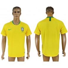 Brazil Home 2018 FIFA World Cup Thailand Soccer Jersey