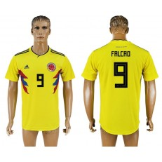 Colombia 9 FALCAO Home 2018 FIFA World Cup Thailand Soccer Jersey