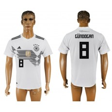 Germany 8 GUNDOGAN Home 2018 FIFA World Cup Thailand Soccer Jersey