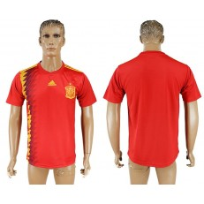 Spain Home 2018 FIFA World Cup Thailand Soccer Jersey