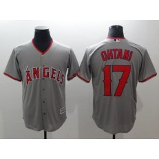 MLB Los Angeles Angels 17 Shohei Ohtani Grey Cool Base Stitched Men Jersey