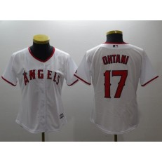 MLB Los Angeles Angels 17 Shohei Ohtani White Home Stitched Women Jersey