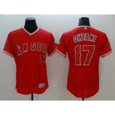 MLB Los Angeles Angels of Anaheim 17 Red Shohei Ohtani Flexbase Authentic Collection Stitched Men Jersey