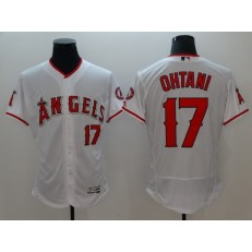 MLB Los Angeles Angels of Anaheim 17 Shohei Ohtani White Flexbase Authentic Collection Stitched Men Jersey