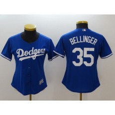 MLB Los Angeles Dodgers 35 Cody Bellinger Blue Alternate Stitched Women Jersey