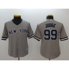 MLB New York Yankees 99 Aaron Judge Gray Cool Base Youth Jersey