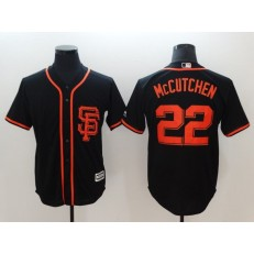 MLB San Francisco Giants 22 Andrew McCutchen Black New Cool Base Alternate Stitched Men Jersey