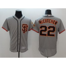 MLB San Francisco Giants 22 Andrew McCutchen Grey Flexbase Authentic Collection Road 2 Stitched Men Jersey