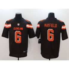 Cleveland Browns 6 Baker Mayfield Brown Vapor Untouchable Player Limited Nike NFL Jersey