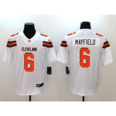 Cleveland Browns 6 Baker Mayfield White Vapor Untouchable Limited Nike NFL Jersey