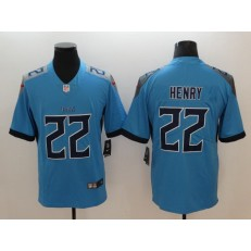 Tennessee Titans 22 Derrick Henry Light Blue Vapor Untouchable Player Limited Nike NFL Jersey