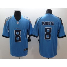 Tennessee Titans 8 Marcus Mariota Light Blue New 2018 Vapor Untouchable Limited Nike NFL Jersey