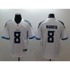 Tennessee Titans 8 Marcus Mariota White Vapor Untouchable Limited Nike NFL Jersey