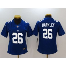 Women Nike New York Giants 26 Saquon Barkley Royal Vapor Untouchable Limited NFL Jersey