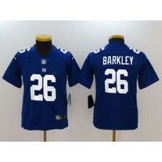Youth Nike New York Giants 26 Saquon Barkley Royal Vapor Untouchable Limited NFL Jersey