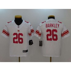 Youth Nike New York Giants 26 Saquon Barkley White Vapor Untouchable Limited NFL Jersey
