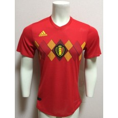 BELGIUM HOME 2018 FIFA WORLD CUP PLAYER VERSION SOCCER JERSEY