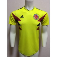 COLOMBIA HOME 2018 FIFA WORLD CUP PLAYER VERSION SOCCER JERSEY