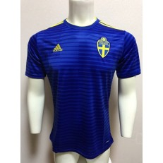 SWEDEN AWAY 2018 FIFA WORLD CUP THAILAND SOCCER JERSEY