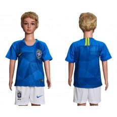 Brazil Away Youth 2018 FIFA World Cup Soccer Jersey
