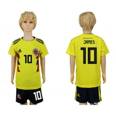 Colombia 10 JAMES Home Youth 2018 FIFA World Cup Soccer Jersey
