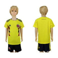 Colombia Home Youth 2018 FIFA World Cup Soccer Jersey