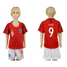 England 9 KANE Away Youth 2018 FIFA World Cup Soccer Jersey