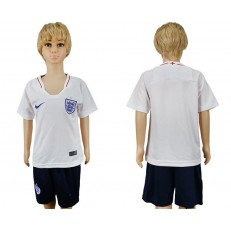 England Home Youth 2018 FIFA World Cup Soccer Jersey