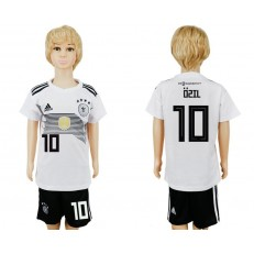 Germany 10 OZIL Home Youth 2018 FIFA World Cup Soccer Jersey