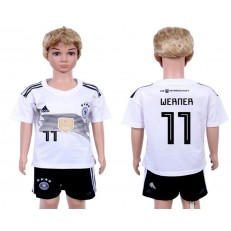 Germany 11 WERNER Home Youth 2018 FIFA World Cup Soccer Jersey