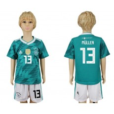 Germany 13 MULLER Away 2018 FIFA World Cup Youth Soccer Jersey