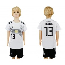 Germany 13 MULLER Home Youth 2018 FIFA World Cup Soccer Jersey
