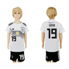 Germany 19 GOTZE Home Youth 2018 FIFA World Cup Soccer Jersey
