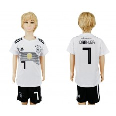 Germany 7 DRAXLER Home Youth 2018 FIFA World Cup Soccer Jersey