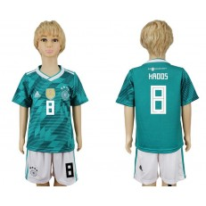 Germany 8 KROOS Away 2018 FIFA World Cup Youth Soccer Jersey