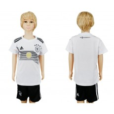 Germany Home Youth 2018 FIFA World Cup Soccer Jersey