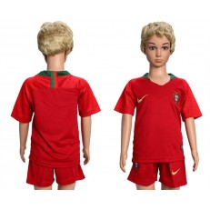 Portugal Home Youth 2018 FIFA World Cup Soccer Jersey